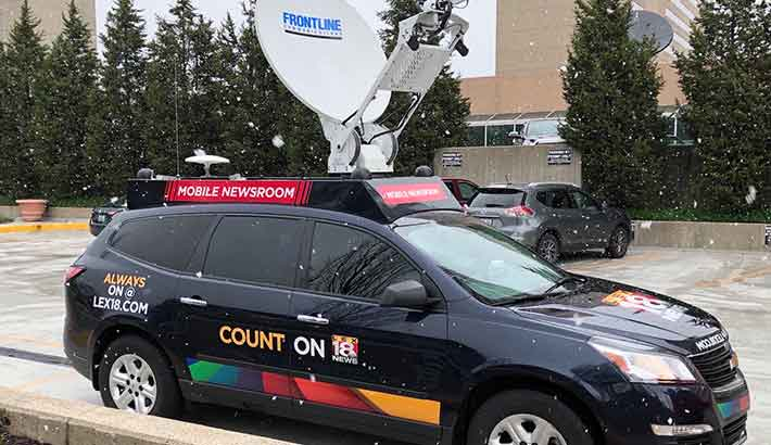 Photo of WLEX-TV goes live from Dejero CellSat