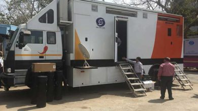 Photo of Doordarshan's IP OB truck hits the road