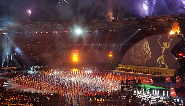 Christie provides spectacular view of 2018 Asian Paralympic Games opening ceremony