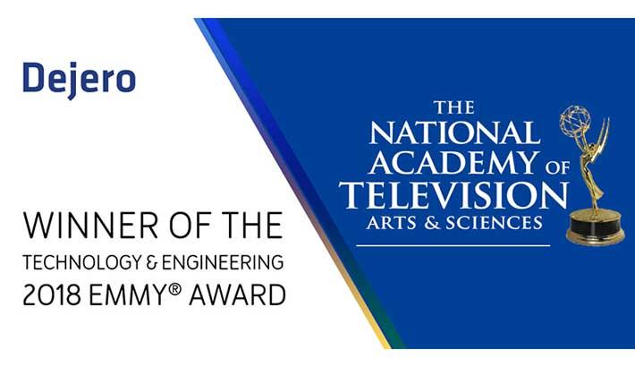 Emmy Award win completes Dejero's decade milestone
