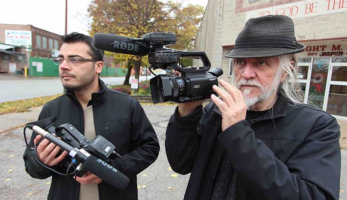 Photo of George Gittoes films White Light in 4K/UHD
