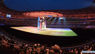 Photo of ZTE showcasing China's first 5G live sports