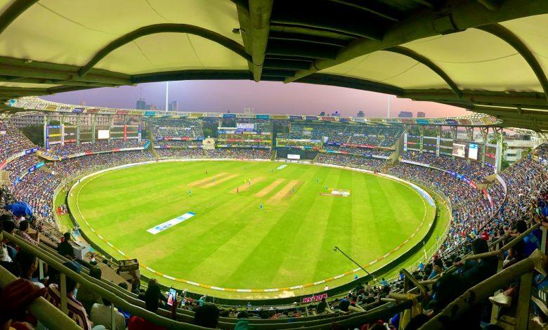 A pre-COVID game at a stadium in Mumbai.