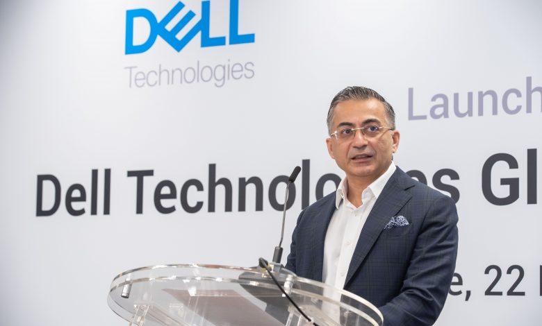 Amit Midha giving the welcome address during the official launch of the Dell Global Innovation Hub.
