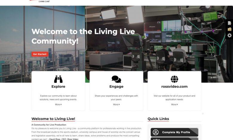 Screen shot of Living Live website