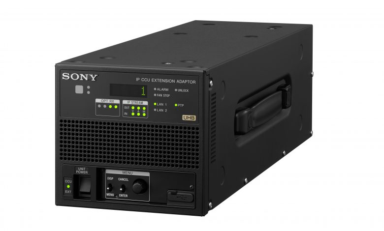 A black box with buttons, 3 black picture monitors