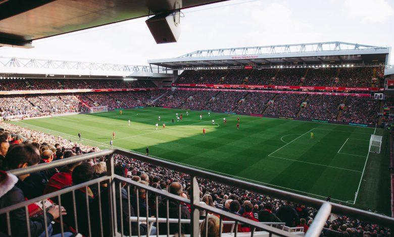 Fans still packing stadium to watch a football match