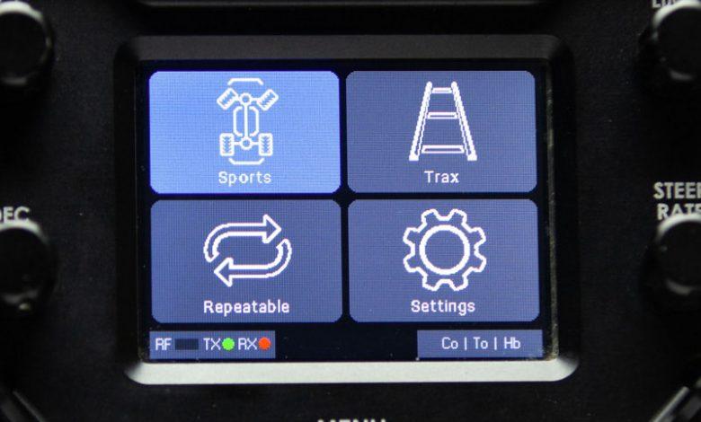 Screenshot of blue user interface