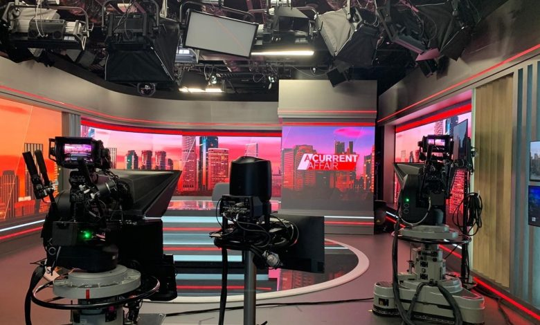 Image of studio with cameras