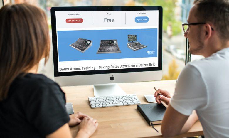 Calrec Dolby Atmos online training module