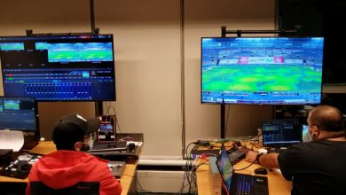 Photo of wTVision/TVTEL providing AR graphics for World Cup match