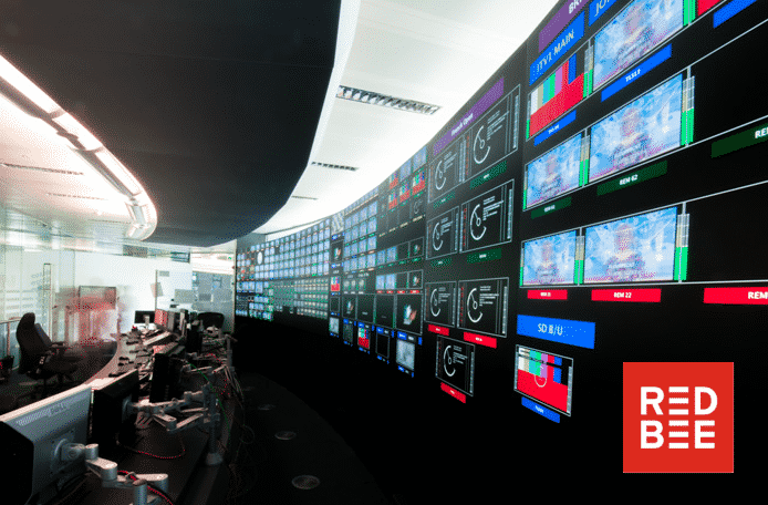 Image of many television screens
